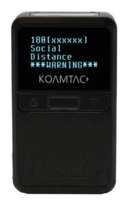 KOAMTAC KDC180 Social Distancing Solution On-Screen Warning