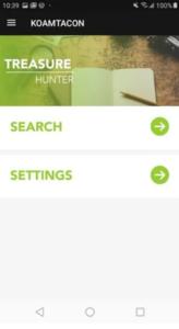KOAMTACON Treasure Hunter App